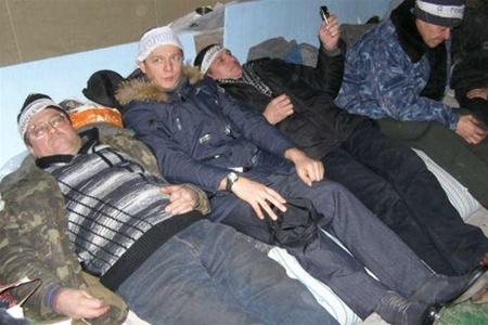 Акция протеста чернобыльцев в Донецке