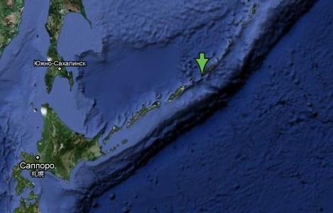 Землетрясение на Курилах 21 ноября 2011