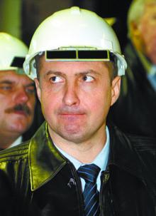Виктор Макушин на Красносулинском металлургическом комбинате «СТАКС». Ноябрь 2006 года