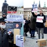 Митинг в Праге против фальсификации российских выборов