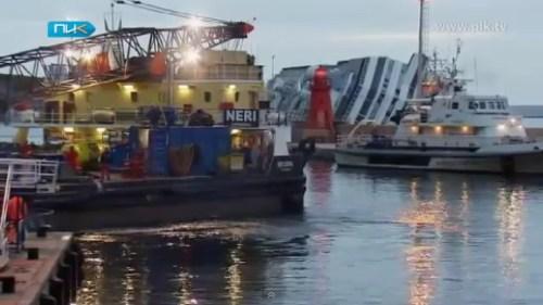 Операция по откачке топлива из затонувшего лайнера Коста Конкордия