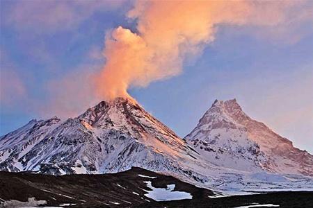 В России произошло мощное извержение вулкана