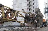 Падение башенного крана на жилой дом в Чите