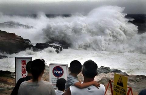 """Тайфун """"Санба"""". Фото: gismeteo.ru"""