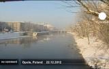 Заснеженная и замерзающая Польша. Кадр Euronews