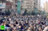 Массовая акция Хезболлы. Кадр RT