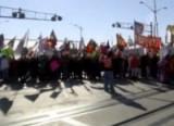 Акция протеста канадских аборигенов. Кадр NTDTV