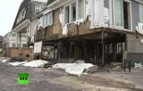 Район Нью-Йорка Квинс, разрушенный ураганом Сэнди. Кадр RT