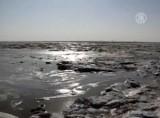 Замёрзшее Бохайское море. Кадр NTDTV