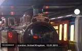 Пионер лондонской подземки на 150-летии первого метро в мире. Кадр Euronews