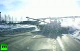 Танк на дороге в Нижнем Тагиле. Кадр RT