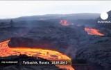 Извержение вулкана Плоский Толбачик на Камчатке. Кадр Euronews