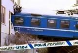 Крушение поезда в Стокгольме, Швеция. Кадр NTDTV