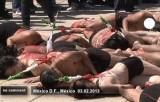 Протест против корриды в Мехико. Кадр Euronews