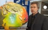 Гравитационная модель земного шара. Кадр Euronews