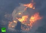 Лесной пожар уничтожает жилой дом в австралийском штате Виктория. Кадр RT