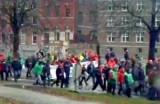 Протест бельгийских рабочих. Кадр RTVi