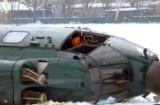 Упавший вертолёт берлинской полиции. Кадр RTVi