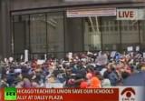 Жители Чикаго решили защитить своё право на образование. Кадр RT