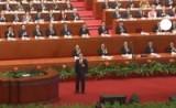 Уходящий в отставку Вэнь Цзябао выступает перед китайскими коммунистами. Кадр Euronews
