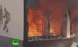 Пожар в египетском футбольном клубе. Кадр RT