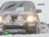 Снегопад на Камчатке в марте 2013. Кадр НТВ