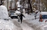 Заваленные снегом улицы Киева. Кадр NTDTV