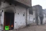 Христианский квартал Лахора (Пакистан) в огне. Кадр RT