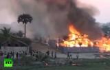 В Мьянме буддисты жгут дома мусульман. Кадр RT