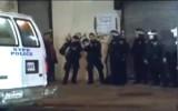 Полиция Нью-Йорка готовится сдерживать разъярённых жителей. Кадр RTVi