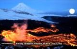 Извержение вулкана Плоский Толбачик, Камчатка. Кадр Euronews