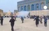 Беспорядки на храмовой горе в Иерусалиме. Кадр Euronews
