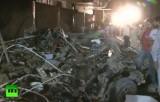 Разрушения после теракта в Пакистане. Кадр RT