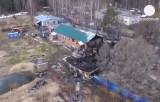 Сгоревшая психиатрическая больница в подмосковном Раменском. Кадр Euronews