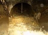 Жировой затор в лондонской канализации. Кадр NTDTV