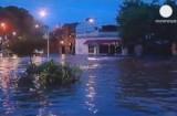 Затопленная улица в Буэнос-Айресе. Кадр Euronews