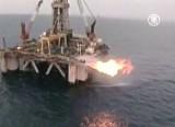 Израильская газодобывающая платформа. Кадр NTDTV