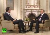 Интервью Владимира Путина немецкому телеканалу ARD. Кадр RT