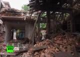 Разрушенные землетрясением дома в провинции Сычуань, Китай. Кадр RT