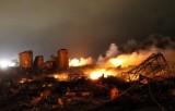 Завод удобрений в городе Вест, штат Техас, после взрыва. Кадр НТВ