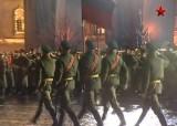 Ночная репетиция Парада Победы. Кадр ТВ Звезда