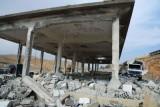 Разрушенное израильскими атаками здание в Джамрае, Сирия. Фото: SANA