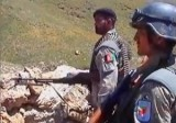 Афганские пограничники на границе с Пакистаном. Кадр Euronews