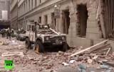 Разрушения после взрыва газа в Праге 29 апреля 2013. Кадр RT