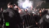 Массовые протесты против результатов выборов в Софии, столице Болгарии. Кадр RT