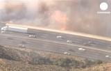 Лесные пожары в Калифорнии. Кадр Euronews
