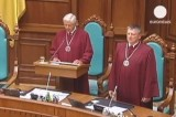Конституционный суд Украины. Кадр Euronews