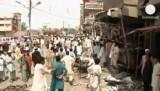 Взорванный избирательный участок в Пешаваре, Пакистан. Кадр Euronews