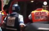 Госпитализация жерт расправы в израильском банке. Кадр Euronews