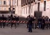 Полицейское оцепление на месте стрельбы в Риме. Кадр NTDTV